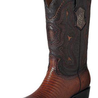 ESTAMPIDA Men´s Exotic Boots Faded Honey/Brown Lizard