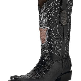 ESTAMPIDA Men´s Exotic Boots Black – Alligator Belly/Goat