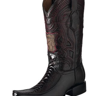 ESTAMPIDA Men´s Exotic Boots Blackcherry – Ostrich Leg/Goat