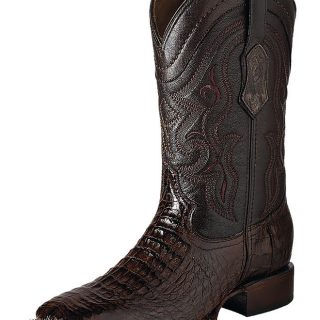 ESTAMPIDA Men´s Exotic Boots Brown Alligator/Goat