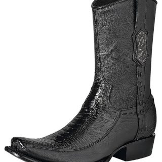 ESTAMPIDA Men´s Exotic Boots Black – Ostrich Leg/Goat