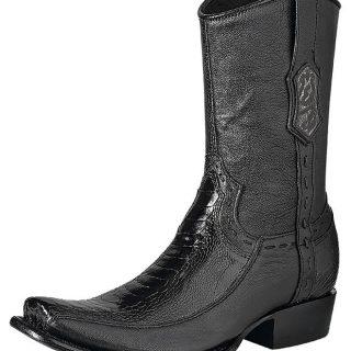 ESTAMPIDA Men´s Exotic Boots Black – Ostrich Leg/Goat