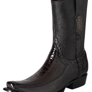 ESTAMPIDA Men´s Exotic Boots Brown – Ostrich Leg/Goat