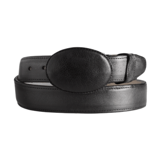 ESTAMPIDA Western Leather Belt - Black
