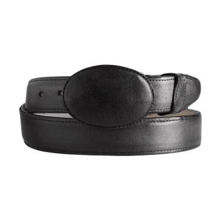 ESTAMPIDA Western Leather Belt - Black