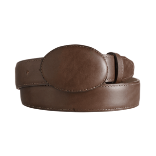 ESTAMPIDA Western Leather Belt – Brown
