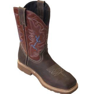 ESTAMPIDA Men´s Work Boots-Acero Bullying/Brown Sheddron
