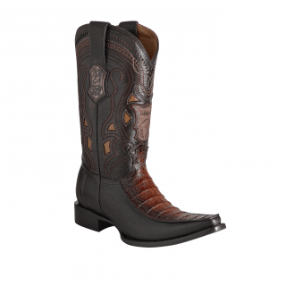 ESTAMPIDA Men´s Exotic Boots Faded Honey/Brown Alligator Belly-Goat