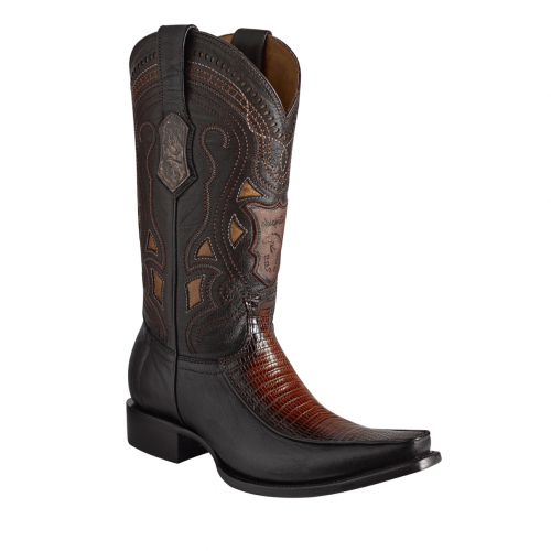 ESTAMPIDA Men´s  Exotic Boots Brown/Honey Lizard