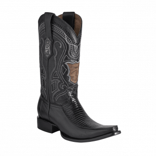 ESTAMPIDA Men´s Exotic Boots Black Lizard
