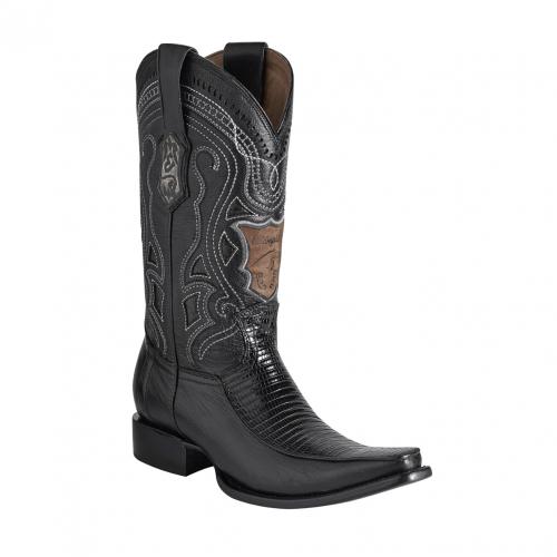 ESTAMPIDA Men´s Exotic Boots Black Lizard