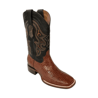 ESTAMPIDA Men´s Exotic Boots Honey/Brown – Lizard/Goat