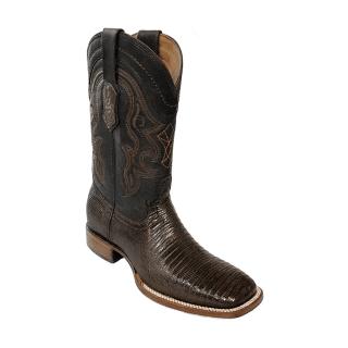 ESTAMPIDA Men´s Exotic Boots Brown – Lizard/Goat