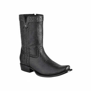 ESTAMPIDA Men´s Exotic Boots Black Goat
