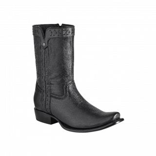 ESTAMPIDA Men´s Exotic Boots Black Goat
