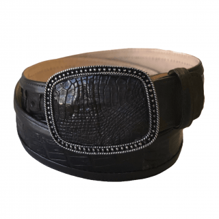 ESTAMPIDA Exotic Leather Belt – Brown Alligator