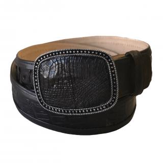 ESTAMPIDA Exotic Leather Belt – Brown Alligator