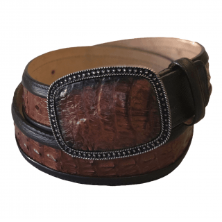 ESTAMPIDA Exotic Leather Belt – Honey Alligator