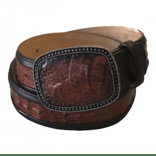 ESTAMPIDA Exotic Leather Belt – Honey Alligator