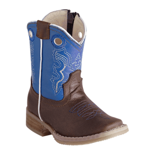 ESTAMPIDA  Baby´s Boots, Brown/Blue – Crazy/Natura