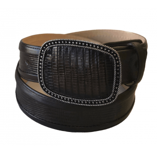 ESTAMPIDA Exotic Leather Belt – Brown Lizard
