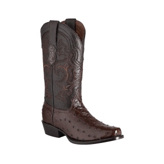 ESTAMPIDA Men´s Exotic Boots Kango/Brown – Ostrich/Goat