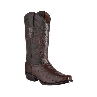ESTAMPIDA Men´s Exotic Boots Kango/Brown – Ostrich/Goat