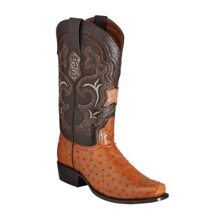 ESTAMPIDA Men´s Exotic Boots Honey/Brown - Ostrich/Goat
