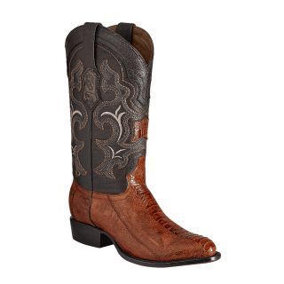 ESTAMPIDA Men´s Exotic Boots Honey/Brown – Ostrich Leg/Goat