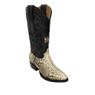 ESTAMPIDA Men´s Exotic Boots Natural/Black- Python/Goat