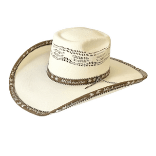 ESTAMPIDA Straw Hats Rio Bravo 50X Brown/Black