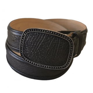 ESTAMPIDA Exotic Leather Belt – Brown Shark