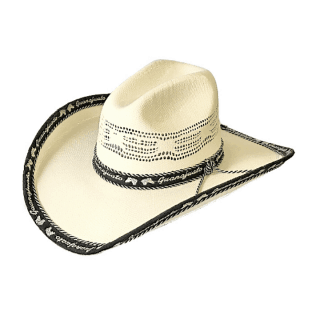 ESTAMPIDA Straw Hats Texas 50X Black/Brown
