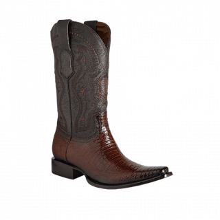 ESTAMPIDA Men´s Exotic Boots Faded Honey/Brown Lizard