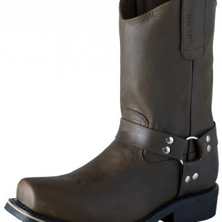 ESTAMPIDA Men´s Work Boots–Distressed Harness, Square Toe–Brown
