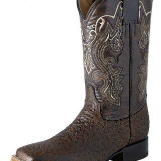 ESTAMPIDA Men´s Western Boots, Conag/Brown-Ostrich Print