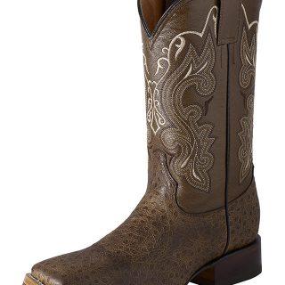 ESTAMPIDA Men´s Western Boots, Birch/Brown-Ostrich Print