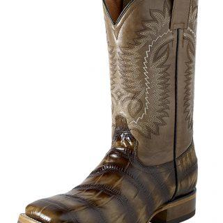 ESTAMPIDA Men´s Western Boots, Honey/Bronze-Macro Coco Print