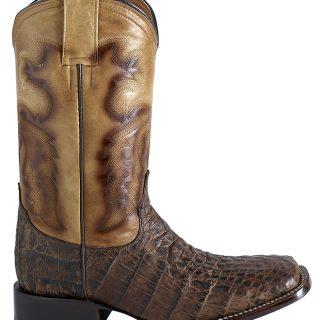 ESTAMPIDA Men´s Western Boots, Brown/Tan – Alligator Print