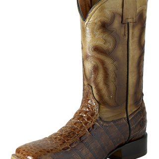ESTAMPIDA Men´s Western Boots, Orix/Tan – Alligator Print