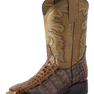 ESTAMPIDA  Teen´s Boots, Orix/Tan – Franco Alligator Print/Thunde