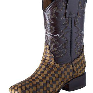 ESTAMPIDA  Teen´s Boots, Brown/Honey – Crazy/Wax