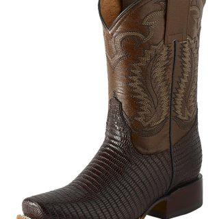 ESTAMPIDA Teen´s Boots, Moka/Brown – Lizard Teju Print
