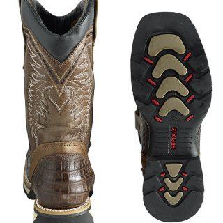 ESTAMPIDA Men´s Work Boots-Acero Bullying-Brown/Tan Coco Print