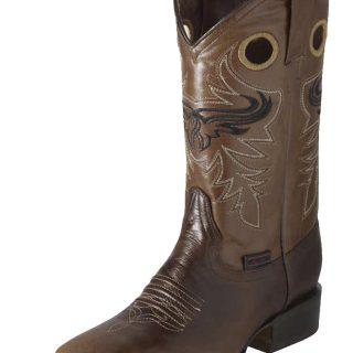 ESTAMPIDA Men´s Western Boots, Moka/Brandy