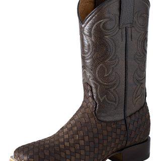 ESTAMPIDA Men´s Western Boots, Choco/Brown/Shedron