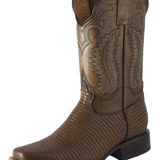 ESTAMPIDA Men´s Western Boots, Honey-Lizard Print