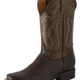 ESTAMPIDA Men´s Western Boots, Moka-Lizard Print