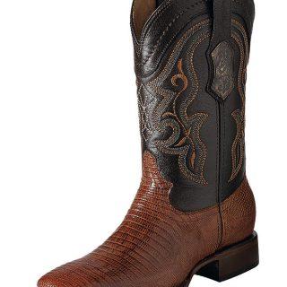 ESTAMPIDA Men´s Exotic Boots, Honey/Brown-Lizard Teju/Goat
