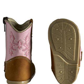 ESTAMPIDA Baby´s Boots, Honey/Pink – Crazy